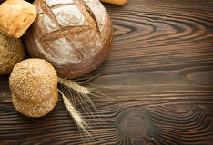 Bread border Stock Images