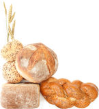 Bread border Stock Photos