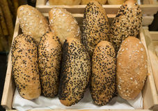 Bread in box basket Royalty Free Stock Photo