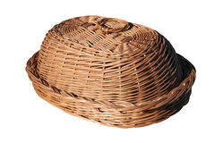 Breadbasket. Bread box Vinewoven isolated on white background Royalty Free Stock Images