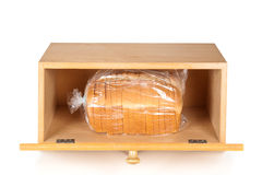 Bread box on white Royalty Free Stock Photos