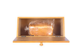 Bread box on white Royalty Free Stock Images