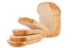 Bread. Bran bread on white background Royalty Free Stock Photos
