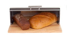 Bread in a bread box Royalty Free Stock Photos