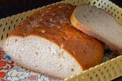 Bread in breadbasket royalty free stock image