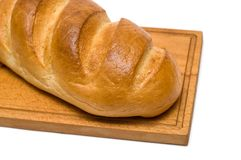 Bread on breadboard Royalty Free Stock Image