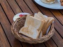 Bread for breakfast Royalty Free Stock Photos