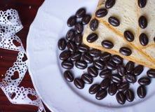 Bread breakfast coffee Stock Images