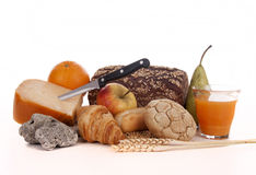 BREAD AND BREAKFAST royalty free stock photos