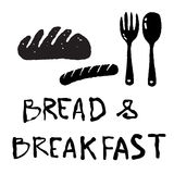 Bread and breakfast icon Stock Image