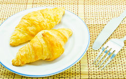 Bread of breakfast on white background Stock Photography