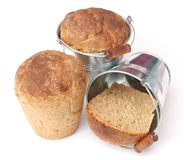 Bread in a bucket Stock Photos