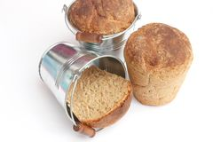 Bread in a bucket Royalty Free Stock Image