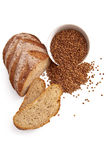 Bread with buckwheat Royalty Free Stock Photography