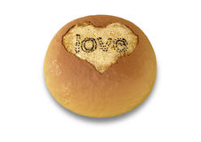Bread Bun Made With Love Royalty Free Stock Images
