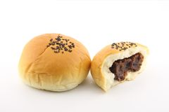 Bread Bun With Red Bean Paste Stock Photography