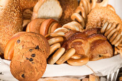 Bread, bun with sugar and drying Royalty Free Stock Photography