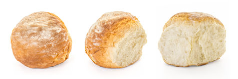 Bread Bun variations. A quarter of four Buns Bread - variations, Collage of three separately taken photographs Stock Image