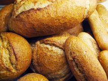 Bread buns background Stock Photo