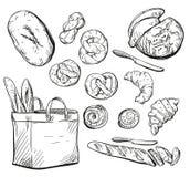 Bread. Buns. Baking. Vector illustration. Royalty Free Stock Photos