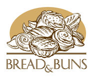 Bread and buns. Royalty Free Stock Photo