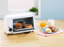 Bread or buns warming oven Stock Images