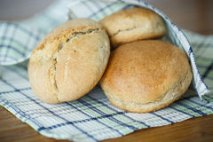 Bread buns from yeast dough Royalty Free Stock Photo