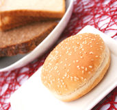 Bread for burger Stock Photography