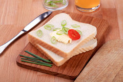 Bread and butter Stock Photography