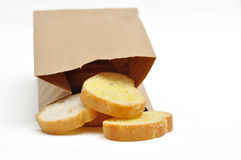 Bread Butter. This ia a Bread Butter in Brown Bag Royalty Free Stock Photography