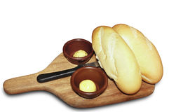 Bread and butter. Picture of bread and butter Royalty Free Stock Photo
