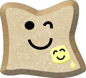 Bread and Butter. Digital illustration of Smiling Bread and Butter Royalty Free Stock Image
