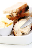 Bread and butter Royalty Free Stock Photo