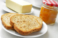 Free Bread, Butter And Jam Stock Image - 41071851