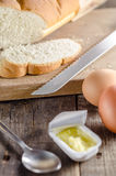 Bread and butter breakfast Royalty Free Stock Image