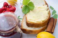 Bread with butter Stock Photography