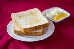 Bread with butter Stock Photo
