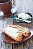 Bread with butter royalty free stock photo