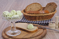 Bread with butter Stock Photos