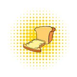 Bread and butter icon in comics style. On a white background stock illustration