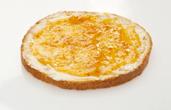 Bread with butter and jam Royalty Free Stock Images