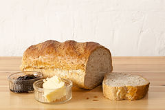 Bread, Butter And Jam Royalty Free Stock Photography