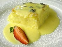 Bread and butter pudding 3 Stock Photo