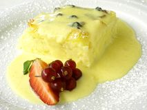Bread and butter pudding Royalty Free Stock Photos