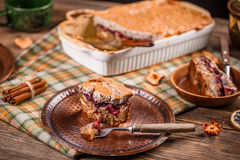 Bread and butter pudding Royalty Free Stock Photo