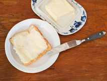 Bread and butter sandwich Stock Images