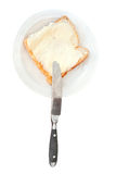 Bread and butter sandwich Royalty Free Stock Photography