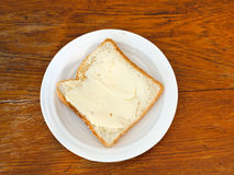 Bread and butter sandwich Stock Photography