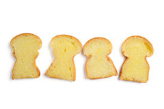 Bread with butter Stock Images