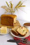 Bread with candied fruit Royalty Free Stock Photography